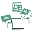 Sms/Email/Excel/Csv